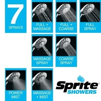 Sprite Shower Pure 7 Spray Shower Filter - 7 Differenet Spray Options