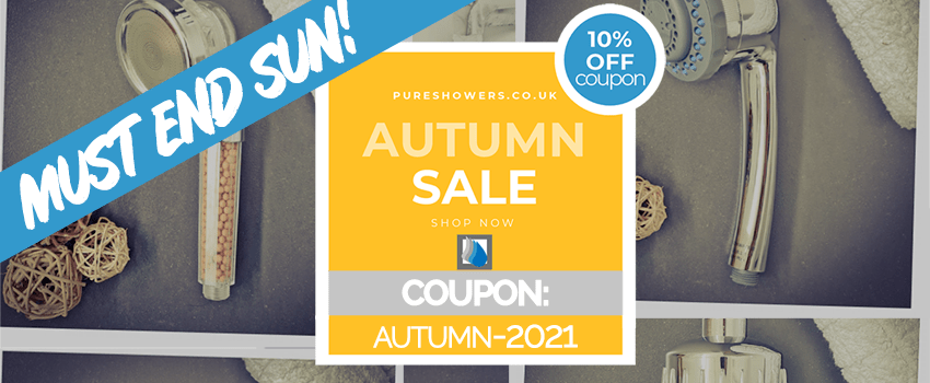 PureShowers.co.uk - Shower Filter Autumn Sale 2021 - 10% off Coupon
